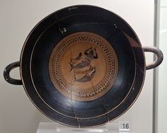 Attic Black Figure Siana Cup representing the Tyrrhenian pirates transformed into dolphins