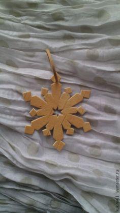 Купить снежинка №11 - бежевый, елочные игрушки, елочные украшения, елочная игрушка, елочное украшение
