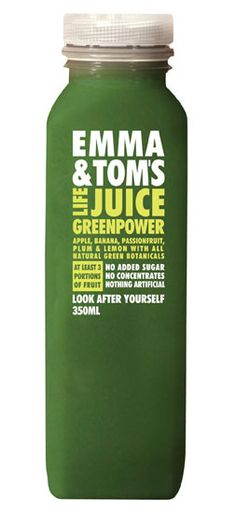 Emma and Tom Green power juice