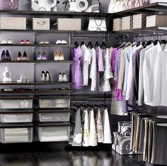 Closet organized by season