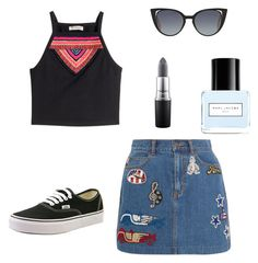 A fashion look from April 2016 featuring crop tops, short skirts and black shoes. Browse and shop related looks. Short Skirts, Mac Cosmetics, Black Shoes, Polyvore Fashion, Fendi, Marc Jacobs, Nail Polish, Fashion Looks, Vans