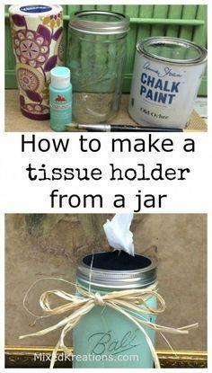 Mason Jar Crafts – How To Chalk Paint Your Mason Jars - Imporing Mason Jar Projects, Mason Jar Crafts, Mason Jar Diy, Mason Jar Bathroom, Diy Home Decor Projects, Diy Projects To Try, Craft Projects, Diy Hanging Shelves, Painted Mason Jars