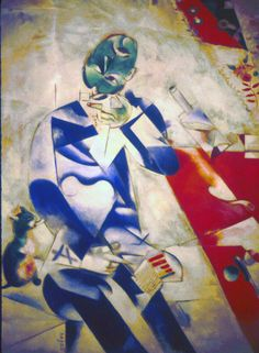 Philadelphia Museum of Art The Parkway 1995 Artwork Half-Past Three (The Poet) Marc Chagall French (born Russia) 1887 - 1985