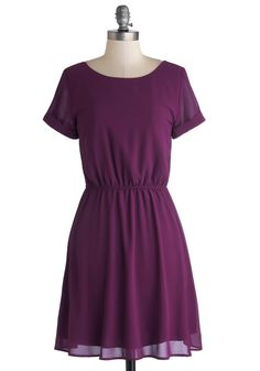 The Best is Yet to Plum Dress. The playlist is set, the menu is finalized, and champagne is chilling in the kitchen, but the evening doesnt begin until you slip into this purple dress! #purple #modcloth