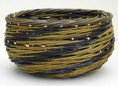Joe-Hogan-Baskets-Irish-Willow-stripes-Blue-and-Yellow-Bowl - maybe something like this in cane