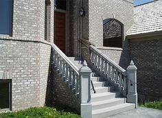 A stone staircase will make an elegant entrance to your home. Click on the picture to learn more about this design. #Stone #Staircase #Outdoors #Home