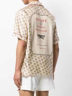 c8062a193 Gucci invite stamp bowling shirt Mens Designer Shirts, Designer Clothes For  Men, Gucci Fabric
