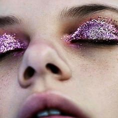 Keep it closed via @matildecasal #mua #makeupartist #glitter #glittermakeup #eyemakeup #lookoftheday #closeup #beauty #beautyinspo via TUSH MAGAZINE OFFICIAL INSTAGRAM - Celebrity Fashion Haute Couture Advertising Culture Beauty Editorial Photography Magazine Covers Supermodels Runway Models
