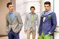Build your own suit selecting style, color, fabric and size!