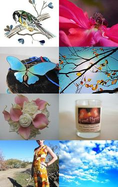 Signs of Spring treasury: #gifts #fineart #homedecor #red # blue