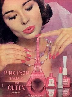 vintage ad - I think Cutex needs to start selling nail polish again, preferably in these adorable retro bottles, I'd totally buy it!