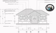 Four-bedroom Bungalow with Well-designed Facade - Ulric Home 4 Bedroom House Plans, My House Plans, Family House Plans, House Construction Plan, House Ceiling Design, Big Bedrooms, Hip Roof, Bungalow House Design, Roof Styles