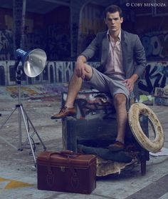 Model Jason Shatto of Vander Models and High Models Management