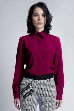Klassiches Hemd in rot // simple red shirt via DaWanda.com