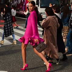 63 Ideas For Pink Dress Outfits Street Styles Pink Fashion, Fashion Looks, Fashion Outfits, Womens Fashion, Fashion Trends, Style Fashion, Fashion Ideas, Fashion Clothes, Fashion Art