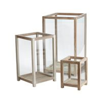 Dimond Home Pepper Wood Box Hurricanes (Set Of - The Dimond Home Pepper Wood Box Hurricanes provide a stunning adornment for anywhere in your home. The set of 3 box hurricanes hold a candle (not included) and can be displayed as a set or individually. Hurricane Candle Holders, Wood Candle Holders, Candle Holder Set, Candlestick Holders, Hurricane Lanterns, Wood Home Decor, White Home Decor, Handmade Home Decor, Lantern Set