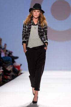 Merona Plaid Jacket and B + W Sweater  Toronto Fashion Week