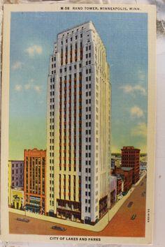 Rand Tower Minneapolis Minnesota Postcard