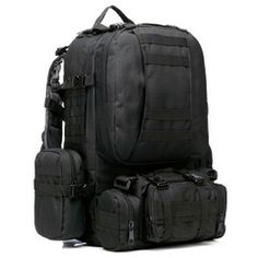 ★ Large ★ Military Tactical Backpack LIMITED TIME ONLY! NOT SOLD IN STORESPlease allow 2-4 weeks for deliveryConstructed with waterproof 600D Nylon material.* Molle design, molle belt on the front and two sides.* Come with a zipper outside pocket and a big mesh compartment in it* With 3 detachable molle pouches attached on front and two sides.* Large cargo with a big compartment in it.* With a bite valve hole at the top of the pack, and hided by a velcro cover.* Come with a hand carry…