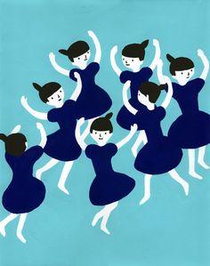 くるくる踊り  wall print