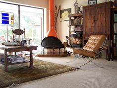 Eclectic design with elements of traditional, rustic and, of course, mid-century modern