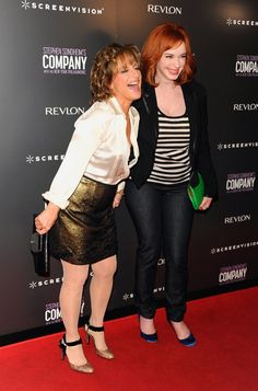 Christina Hendricks and Patti Lupone Photos Photos - (L-R) Actors Patti LuPone and Christina Hendricks attend Stephen Sondheim's The Company with the New York Philharmonic presented by Screenvision and Ellen M. Krass Productions at the NYIT Auditorium On Broadway on June 8, 2011 in New York City. - Screenvision And Ellen M. Krass Productions Present Stephen Sondheim's The Company With The New York Philharmonic