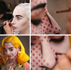 Image discovered by Tamara Tvidova. Find images and videos about make-up, add a tag and roy lichtenstein on We Heart It - the app to get lost in what you love. Holidays Halloween, Halloween Make Up, Halloween Ideas, Halloween 2018, Cool Costumes, Halloween Costumes, Art Costume, Costume Ideas, Holiday Costumes