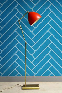 Backsplash? Self adhesive vinyl temporary removable wallpaper, wall decal - Blue Herringbone print - 048