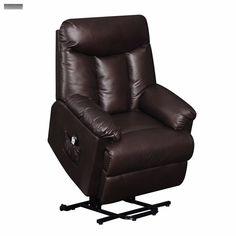 Brown Lift Recliner Leather Hugger Power Remote Lazy Chair Barcalounger Seat Boy | eBay http://www.ebay.com/itm/181947506596?ssPageName=STRK:MESELX:IT&_trksid=p3984.m1555.l2649