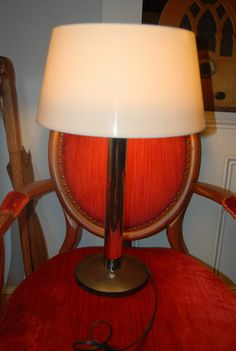 Rare Mid Century Modern Gerald Thurston Lightolier Table Deskl Lamp Chrome