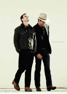 Raylan and Boyd from Justified... Can I have them both for my birthday!? Please!?
