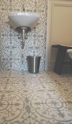 our menara tiles look good on walls and floor alike Building Ideas, Building A House, Marrakesh, Cement, Cool Designs, Bathrooms, Tiles, Sink, Flooring