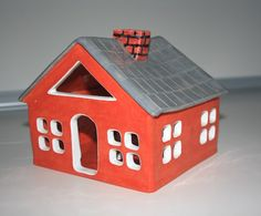 Handmade Ceramic House Candle Holder