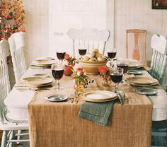 Common Ground: Vintage Inspiration Friday # 59 Fall Tablescapes