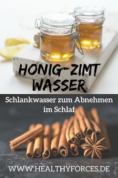 Mit Honig-Zimt-Wasser abnehmen: Einfaches Rezept Slimming with honey and cinnamon water: Drink this slimming water every night before bed and in the morning on an empty stomach. It stimulates fat burning and regulates digestion. Read the recipe here. Water Recipes, Detox Recipes, Smoothie Recipes, Juice Recipes, Honey Cinnamon Water, Detox Cleanse Drink, Smoothie Detox, Fat Burning Detox Drinks, Weight Loss Water