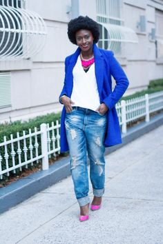 Casual meets chic in slouchy denim and colorful add-ons. #glamazonootd #style #fashion #glamazonsblog