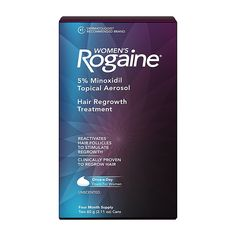 Women's Rogaine 4-Month Supply Topical Solution Hair Regrowth Treatment