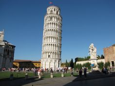 The Leaning Tower of Pisa!  Beautiful!  Couldn't believe how much it actually leans.