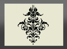 Damask Shabby Chic Stencil  Various Sizes Made From High