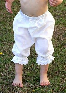 @Denise H. Young...OK,our littles would look silly now...but these paired with some of your darling clothes...yeah!!!  Easy Peasy Pantaloons