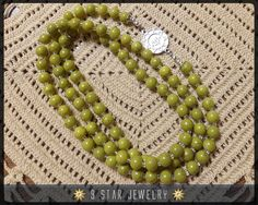 Baha'i Prayer Beads with Silver baha'i Ringstone by 9StarJewelry #bahai #bahaiprayerbeads #prayerbeads #9starjewelry