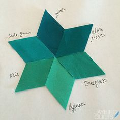 Gravity Quilt Block Colors: Block 1 - Horizon | Jaybird Quilts