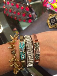 New at Nordtrom.  These bracelets are PERFECT for stacking!