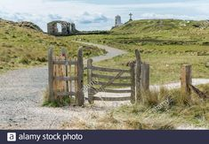 Wales Uk, North Wales, Anglesey, Lighthouse, Monument Valley, Gate, Stock Photos, Island, Country