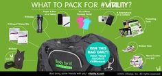 What to pack for #Vitality. http://visalus.com/vitality