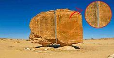 Γράφει ο Σπύρος Μακρής   Ένας εκπληκτικός αρχαίος βράχος βρίσκεται εκτεθειμένος στην έρημο, με μία τομή ακριβείας που δεν αφήνει πολλ...