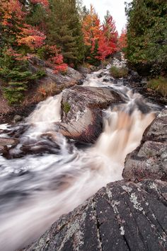 Duchesnay Falls - North Bay - Ontario by Stephan Graveline