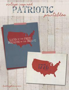 Vintage Inspired Patriotic Printables! FREE 4th of July Printables