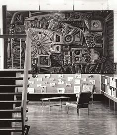 William George Mitchell  - concrete frieze in the library, Turnpike Centre in Leigh,1971