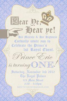 Custom Personalized Prince Birthday Party Invitations UPRINT. $15.00, via Etsy.